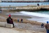 Так называемый «дикий пляж» зимой, Ялта, январь 2015 года